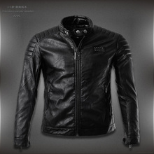 2015 new arrive Spring brand motorcycle leather jackets men ,men's leather jacket, casual collar leanther jacket caot men(China (Mainland))