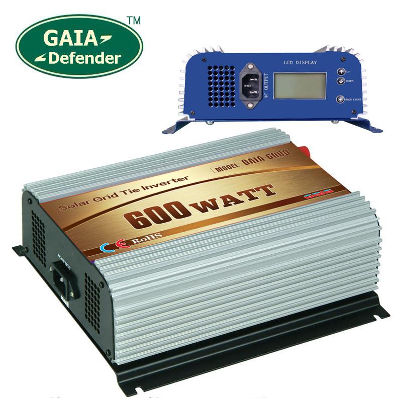600W Solar Grid Tie Inverter DC22V-60V AC 90V-140V for 100V 110V 120V LCD display(China (Mainland))