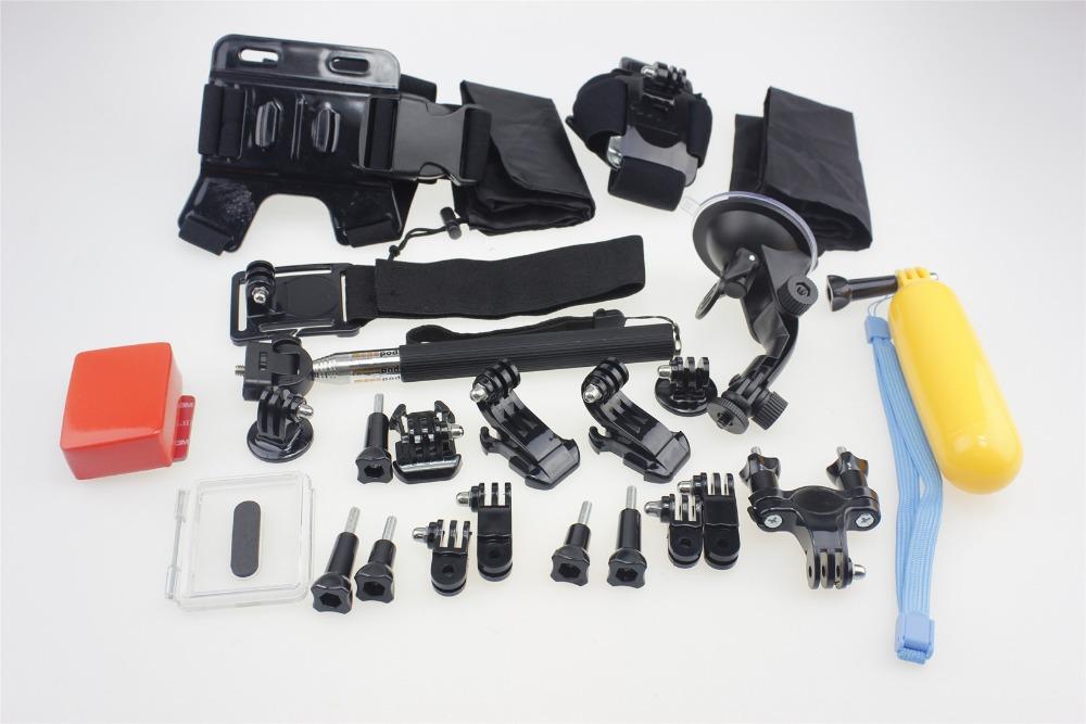 F05657-C Accessories Set: Remote Wrist + Helmet Shoulder Strap Float Monopod