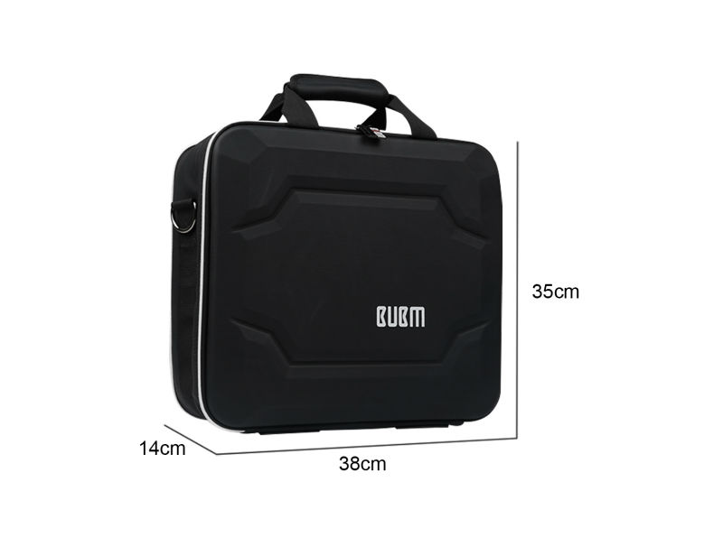 BUBM Hard Travel Organize Case Protection Carry Bag Cover For PS4 PRO Games Console Accessories Bag With Shoulder – Black