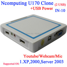 Thin client U170 China ncomputing clone NC RDP USB thin clients with 2 usb support webcam
