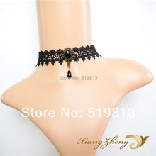 N403 Gothic Punk  necklace false collar accessoriesJewelry, Black Lace Vampire sexy  Costume Jewelry Necklace free shipping