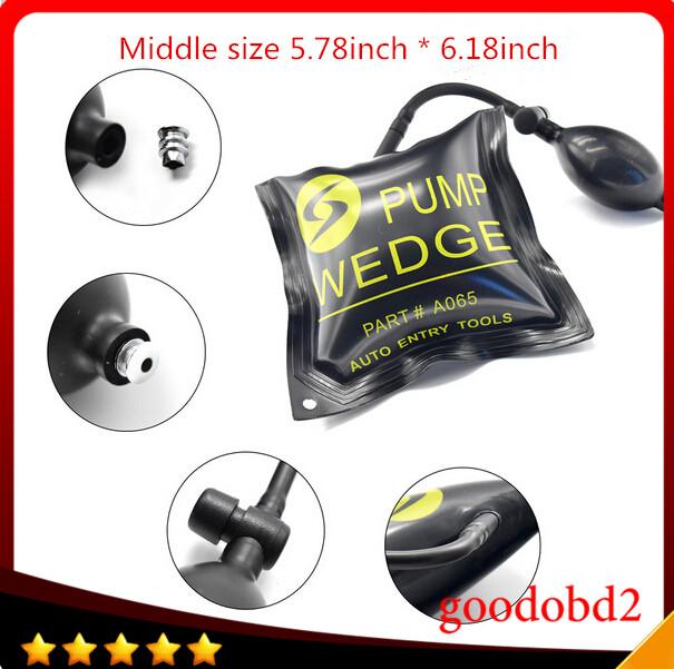 Promation Rubber 157mm * 147mm Airbag Universal Klom Air Pump Wedge Locksmith Tools Lock Pick Set Door Lock Opener best quality(China (Mainland))