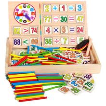Nueva llegada del bebé juguetes recuento matemáticas juguetes de madera operación Digital caja de bloques educativos del juguete del regalo de cumpleaños del niño(China (Mainland))