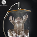 Bathroom Square 8 inch Rainfall Shower Head Over head 360 degree Rotate Plastic Showerhead Sprayer ABS