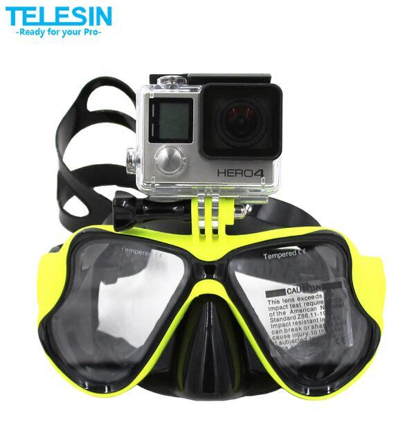 Gopro Diving Mask Goggles Diving Scuba Mask Snorkel Swimming Tempered Glasse For GoPro Hero3 3+ 4 XiaoYi Action Camera Accessory