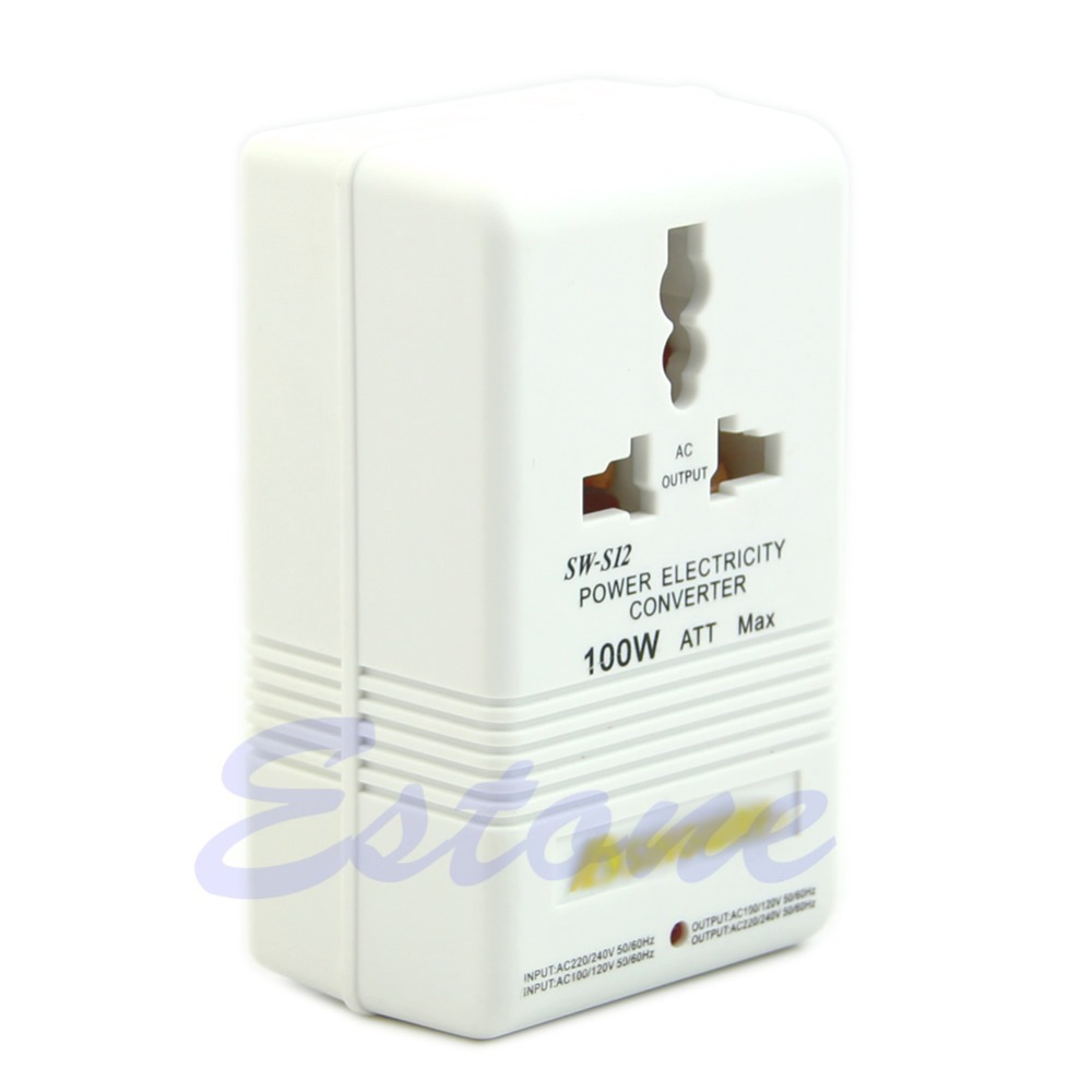 M126 Free shipping New Professional Power Voltage Converter 220 240V To 110 120V Adapter