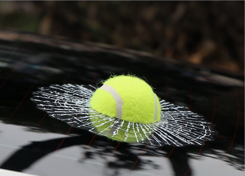 Car Styling 3D Sticker Fun Real basketball football Creative Stickers For Car Window And Rear Windshield Automotive Accessories(China (Mainland))