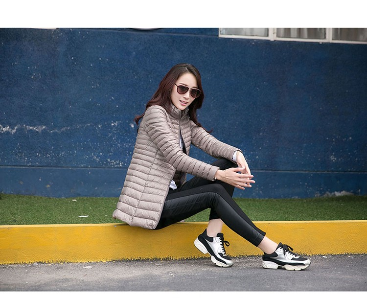 2016 new 90% white collar in the long thin down jacket, winter warm slim size coat, fashion, female jacket
