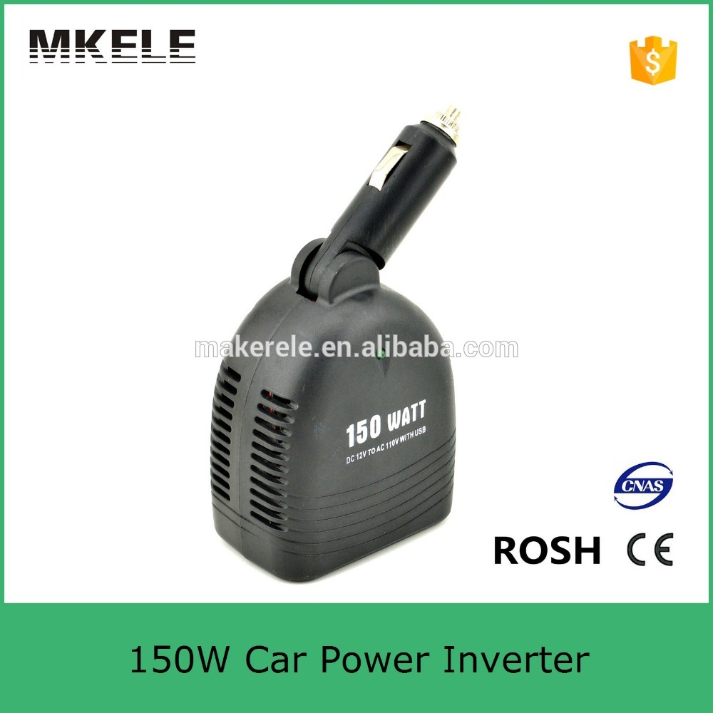 MKC150U-121 manufacturer sale mini size 150watt 12v to 110v inverter,power inverter for car battery 12v car inverter(China (Mainland))