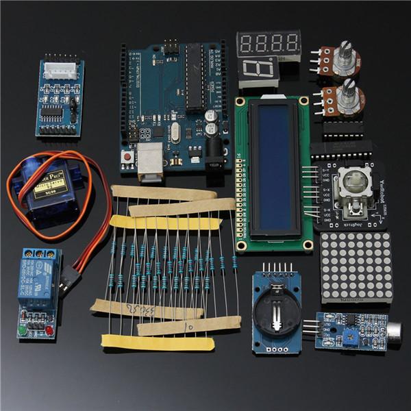 2016 Best Price Ultimate Starter Kit Arduino 1602 LCD Servo Motor LED Relay RTC