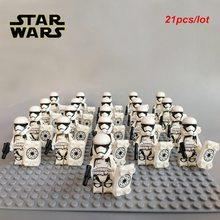 Новый 21 шт/лот клон-командир капитан Рекс Штурмовик совместимый legoeING Звездные войны фигурка строительные блоки кирпичная игрушка(China)