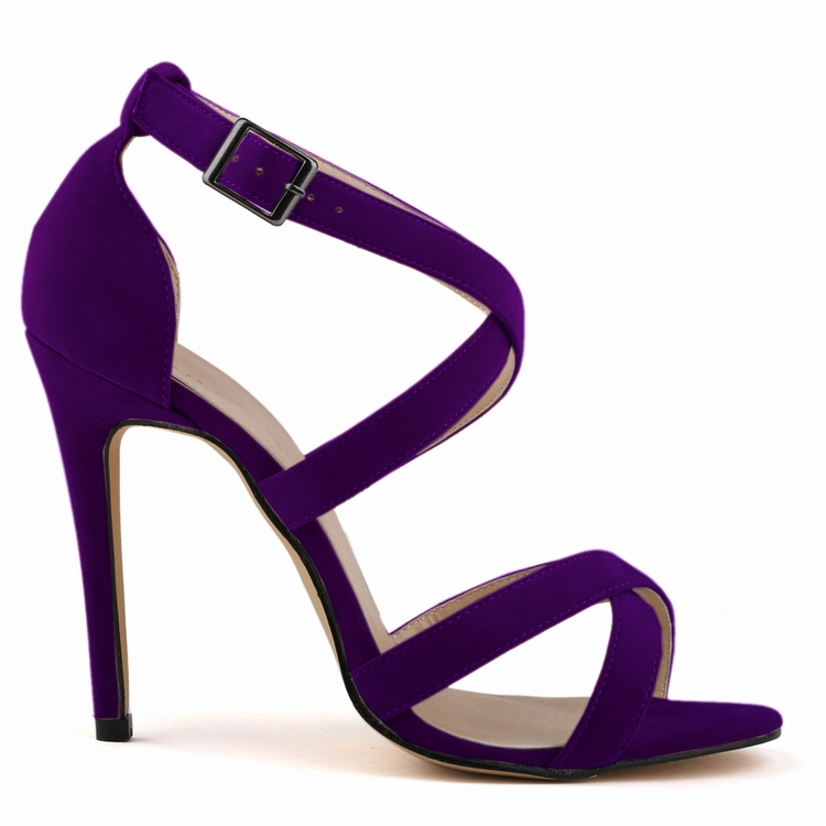 SMYNLK-AA0041 Luxury Sandals 2015 Summer Shoe Woman Pumps Beach Shoes Sandal With Thin Heels Purple Red White Black(China (Mainland))