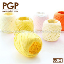 Buy PGP Orange Yellow Paper Raffia Cord, Ribbon set, Baby Shower Bumble Bee Children's Day Party Thanks Gift Package Decor for $9.90 in AliExpress store