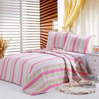 2015 hot sell 100%cotton bedspread dot strip design quilt