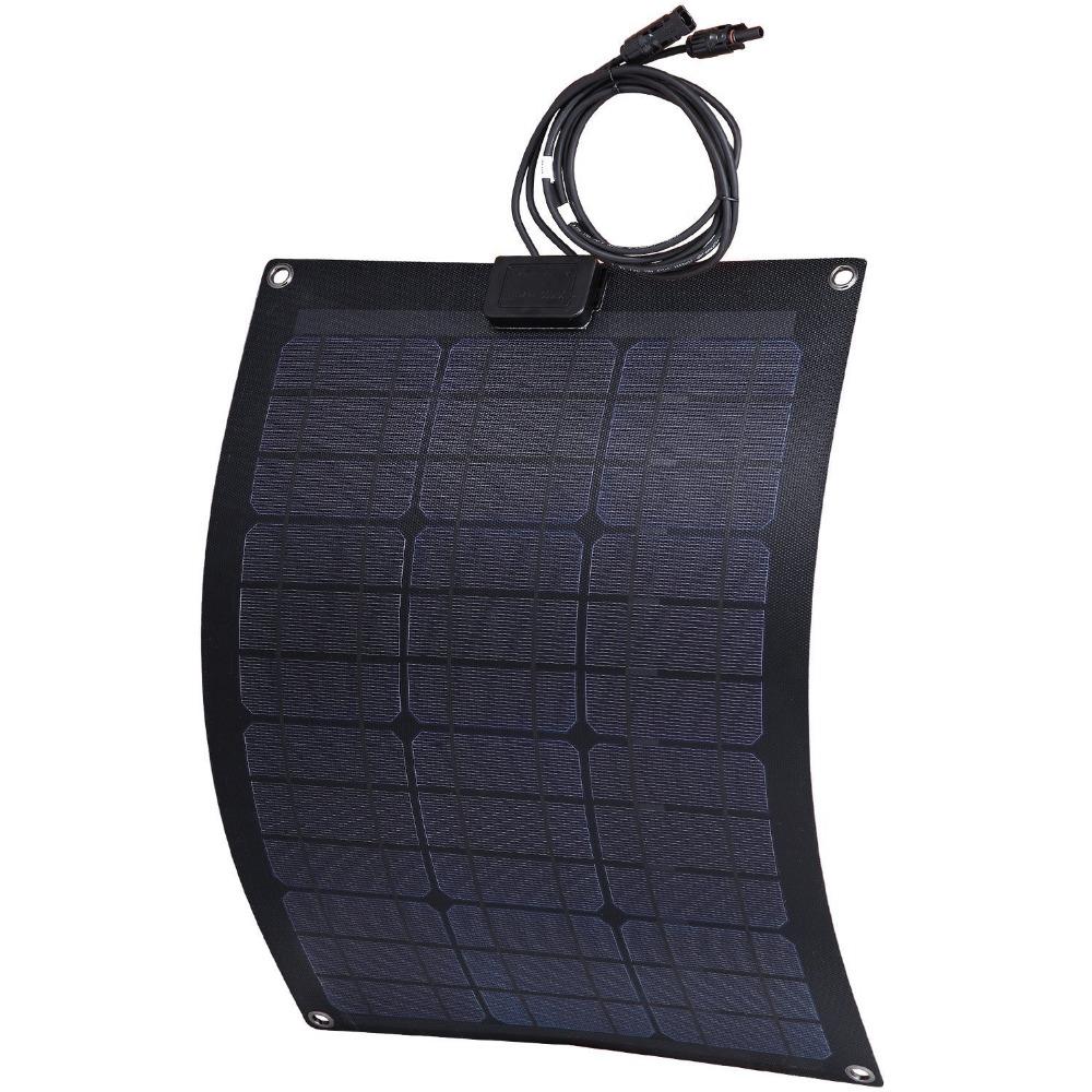 50Watt ETFE panels semi flexible solar panels fiberglass back sheet(China (Mainland))