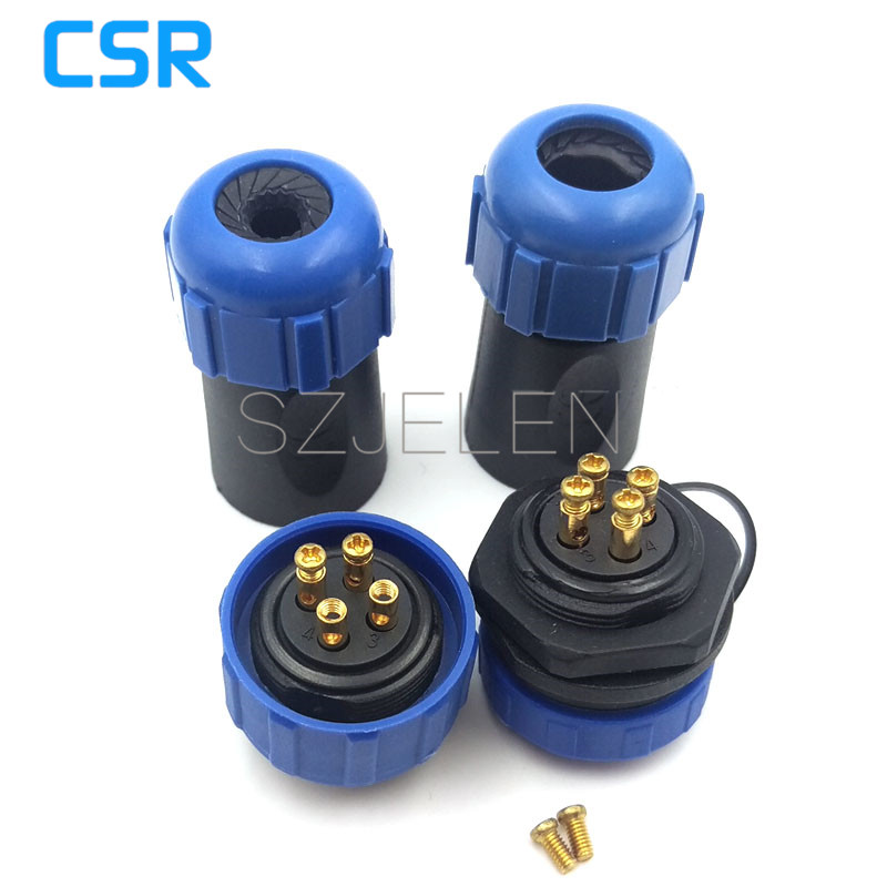 SP2110, No need to weld (connect by the metal screw) waterproof Connector 4pin plug and socket , outdoor link wire connector(China (Mainland))