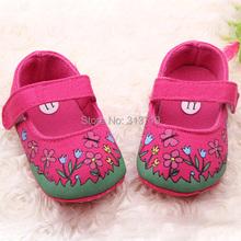 Xj012 muchacha del cabrito del bebé Floral zapatos del pesebre suela suave y transpirable zapatos de la mariposa(China (Mainland))