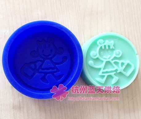 Round little girl Silicone Cake Chocolate Soap Pudding Jelly Candy Ice Cookie Biscuit Mold Mould Pan Bakeware  -  duanduan yu's store store