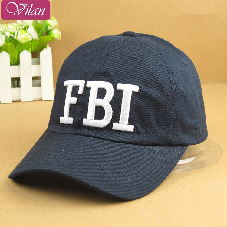 The new fashion 2016 fine men's baseball hats/ The man's FBI printing cap(China (Mainland))