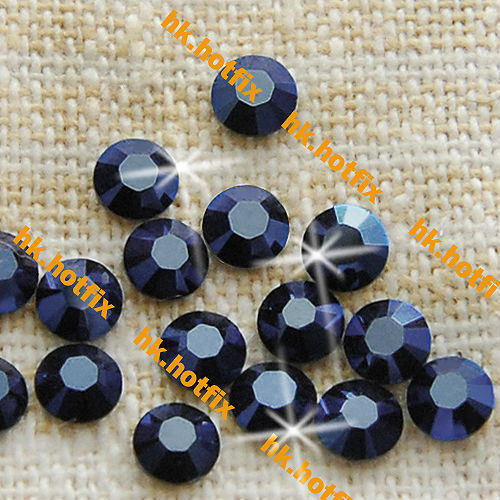 GENUINE Swarovski Elements ss20 Satin Sapphire ( 206 ) 720 pcs Iron on 20ss Hot-fix Beads Round Crystal 2038 Hotfix rhinestones