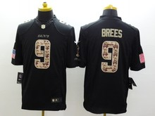 100% Stitiched New Orleans Saint Kenny Vaccaro Drew Brees Brandin Cooks white Black Green Salute camouflage(China (Mainland))