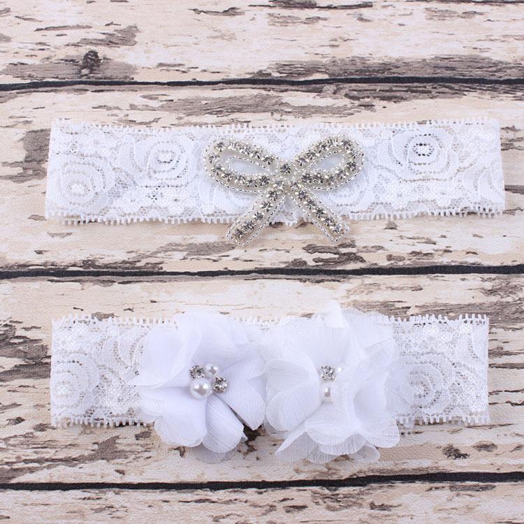 Neonatal fashion chiffon flower bud silk hair band Bowknot rhinestone hair ribbon ornaments(China (Mainland))