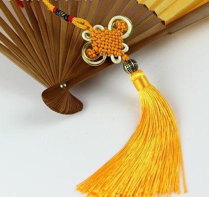 New 20pcs/lot 10.6 inch Chinese Lucky Knot Cross Stitch Tassel Chinese New Year Decorations Chinese talisman Good Luck Knot Gift(China (Mainland))