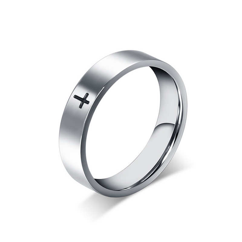 Never Fade Stainless Steel Cross Rings For Man women Unique Lovers' Couple promise ring Fashion Jewelry Wholesale Price(China (Mainland))