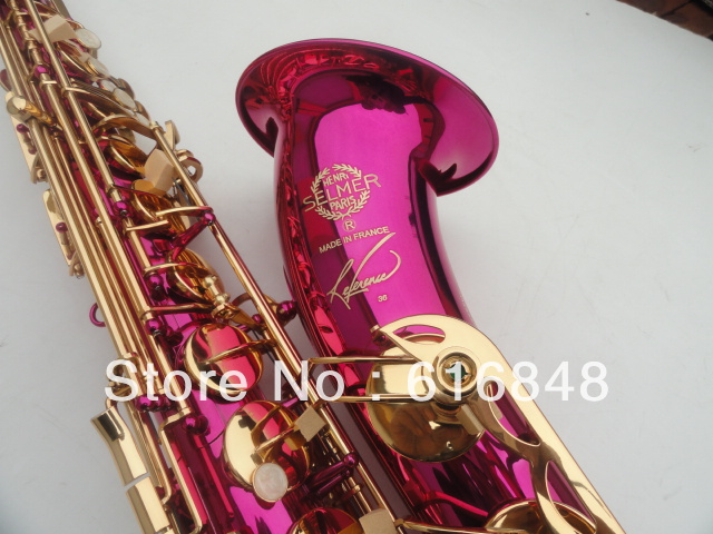 wholesale Direct selling France Copy Henri selmer tenor saxophone instruments Reference 36 pink(China (Mainland))