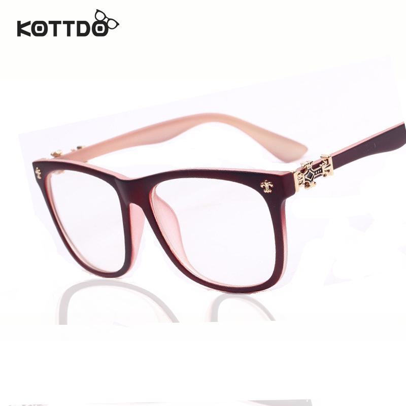 fashion men women brand designer optical suitable for myopia eyeglasses frame plain retro eye glasses frame