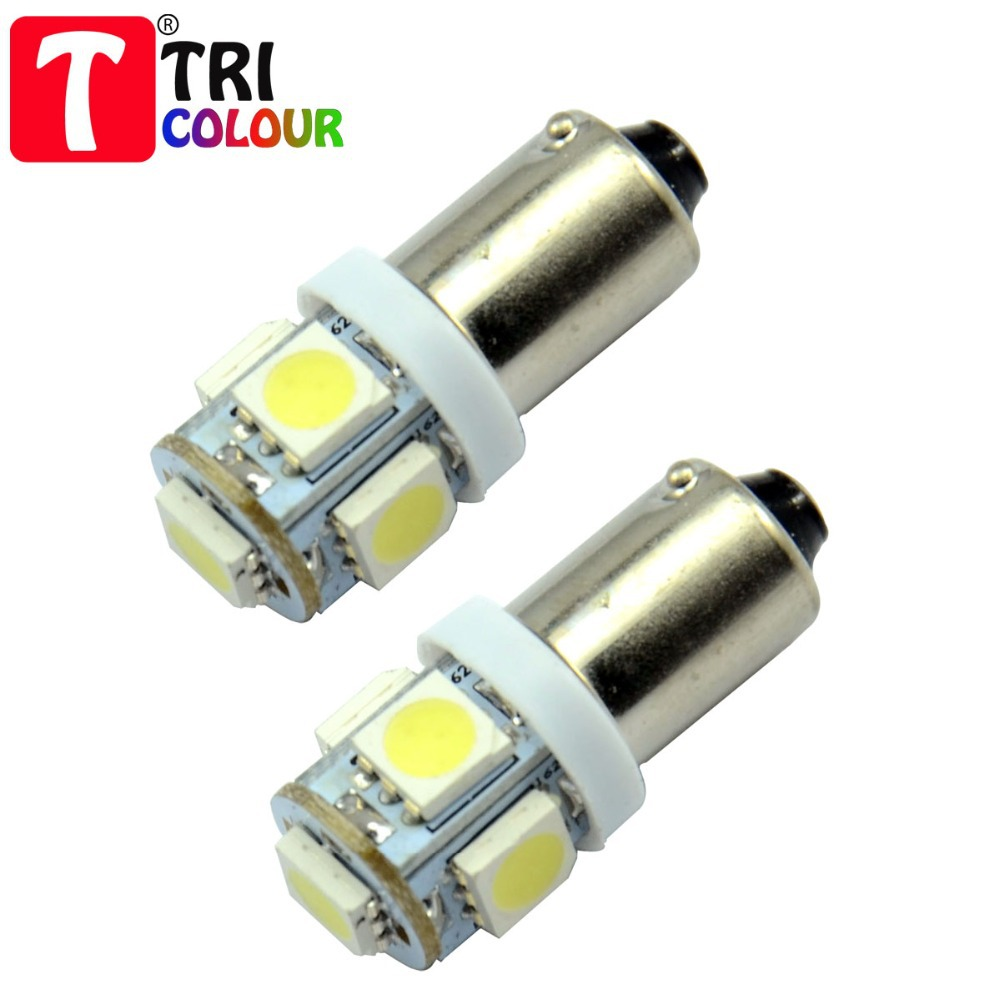 10x Car Marker Lamps T11 Ba9s T4w LED Bulb 5 LEDS Tower 5050 led 96 Lumen 12 VDC 7 color #LG02(China (Mainland))