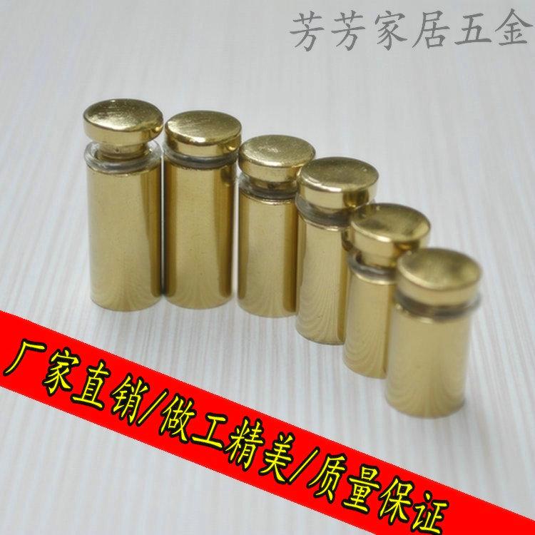12mm*25mm Golden steel glass standoff  screw from China 20pcs/bag<br><br>Aliexpress