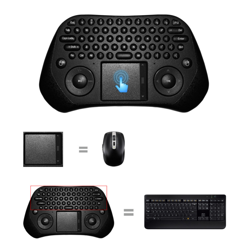 Pro Measy GP800 USB Wireless Keyboard Touchpad Air Mouse Fly Mouse Remote Control for Android Windows TV Box Cellphone Projector(China (Mainland))