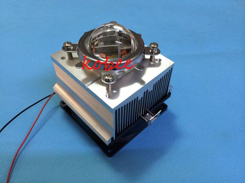 led heatsink cooling heatsink 80x83x65mm with 20w-100w led lens Reflector Collimator 20-100w for high power 100w led chip(China (Mainland))
