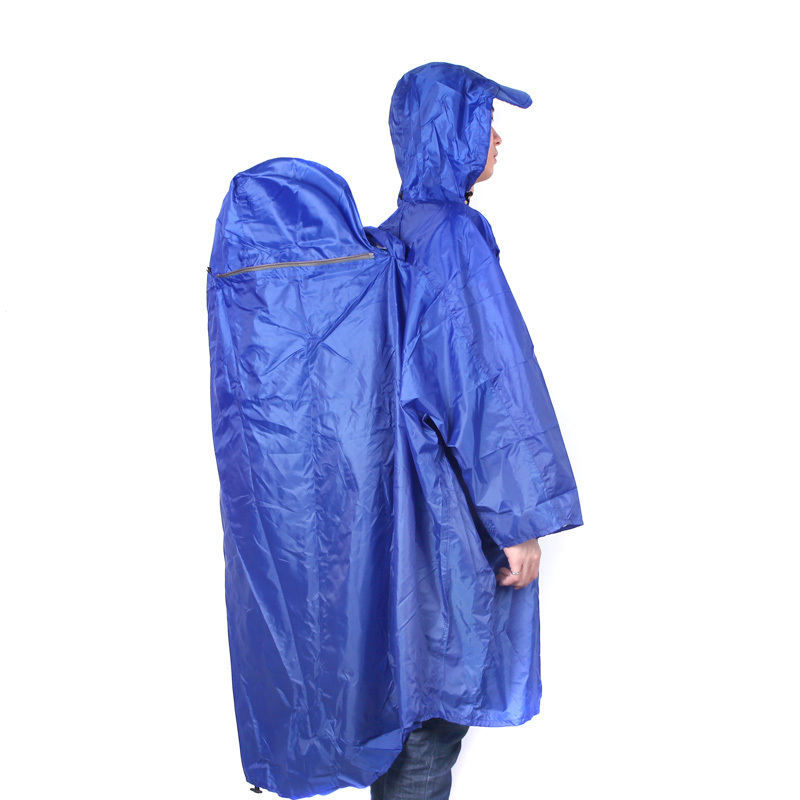 Новый BlueField рюкзак обложка - цельный плащ пончо дождь кабо открытый туризм отдых мужская 4 цветов