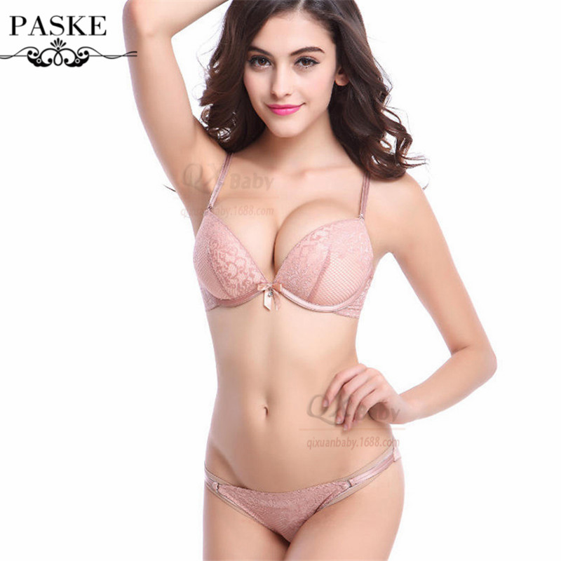 New Canada Top Brand Beautiful Lace Underwear Women Bra Set Bra & brief Sets VS Push Up Bra and Panty Set BS195(China (Mainland))