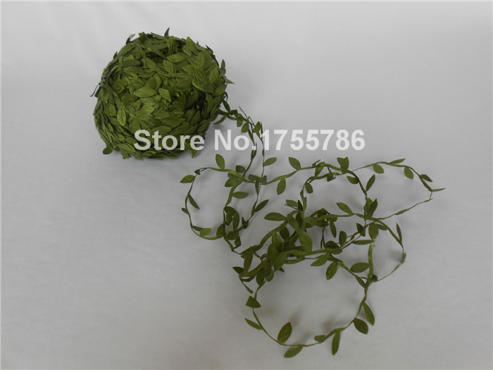 100M Arts Green Leaf Leaves Ribbon Lace Trimming Embellishments Good Crafted DIY Ideas(China (Mainland))