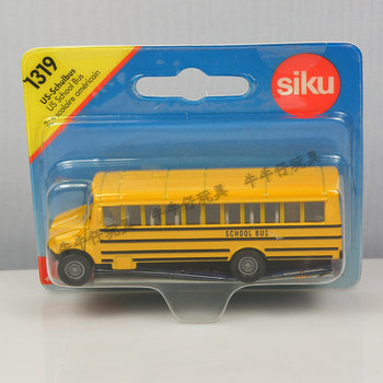 Free Shipping Boxed alloy car yellow school bus bus toy 1319