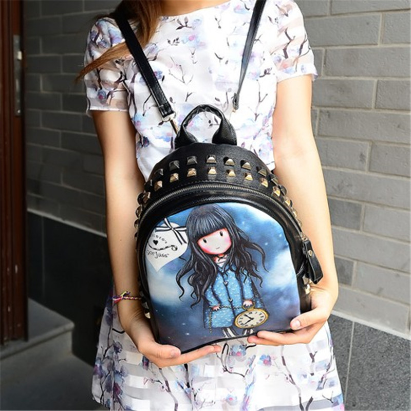 New Fashion Graffiti Cute Backpacks anime PU Leather School Bag For Girl Backpack printing Cartoon bag kawaii backpack for youth<br><br>Aliexpress