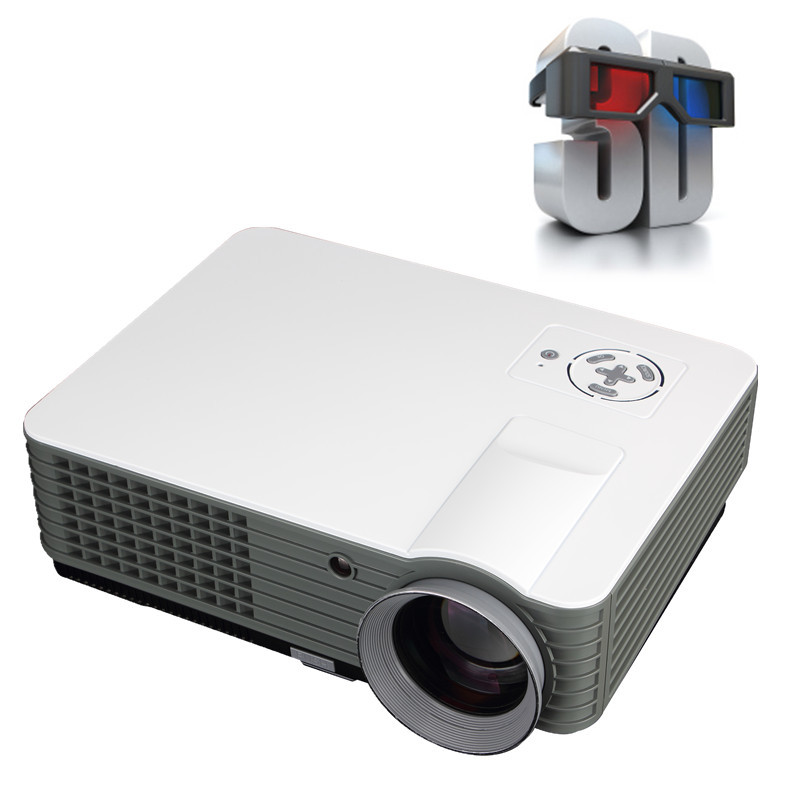 2800 lumens led projector full hd 3d tv hdmi portable for Best portable smart projector