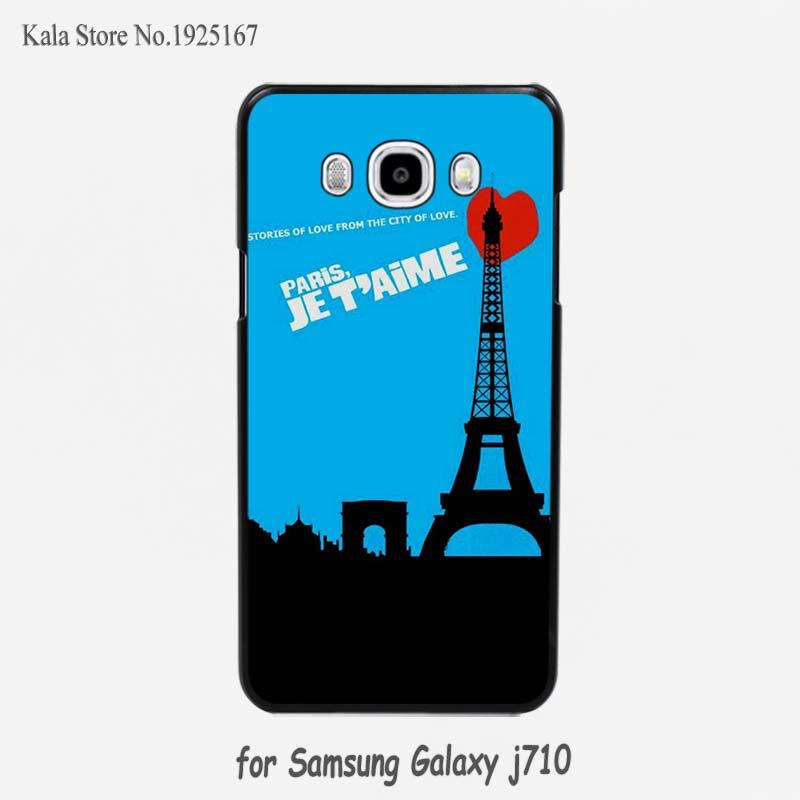 paris je t aime paris je taime hard black Case Cover for Samsung Galaxy j710 j7 j510 j5 j3 c7 c5(China (Mainland))