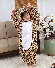 Nieuwe kinderen Dier Pyjama Winter Warm Meisje Jongen Kinderen Pyjama Cartoon eenhoorn Stitch Panda Cosplay onesie Hooded Leuke Nachtkleding(China)