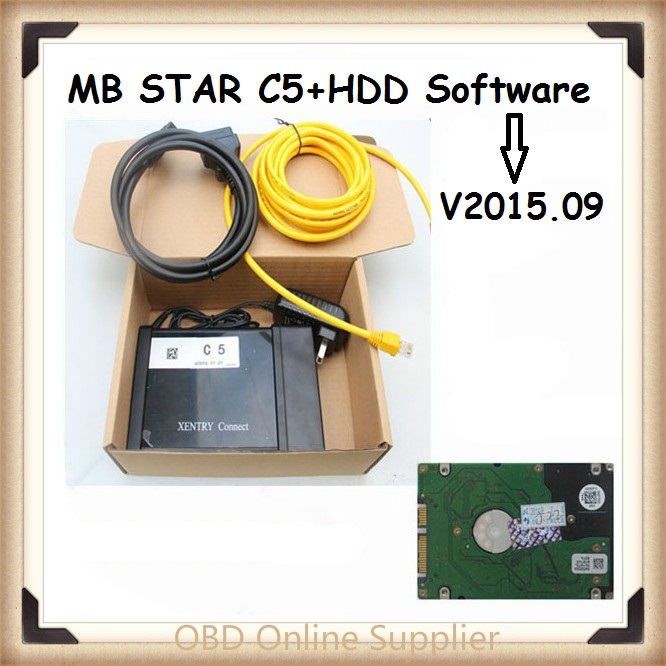 Latest Top MB STAR C5 with HDD software SDConnect C5 Multiplexer Diagnostic Tool with WIFI upgrade of MB STAR C4 Multi-language(China (Mainland))
