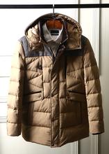 2017 nouvel an hiver hommes de marque vêtements parkas thermique épaississement Canada GOODE VERS LE BAS manteau vestes avec un capot brun de chine(China (Mainland))