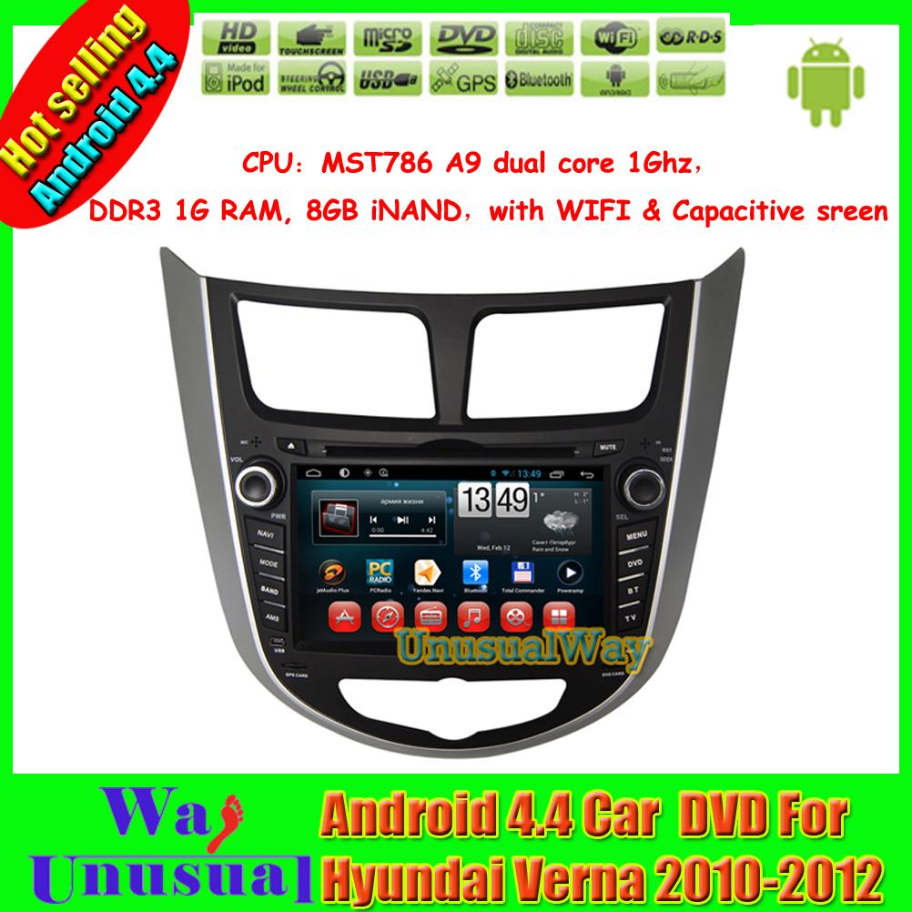 2015 Top Car Styling 7inch Android 4.4.4 Car Multimedia for Hyundai Verna 2010 2011 2012/Accent/Solaris/I20 With GPS Wifi(China (Mainland))