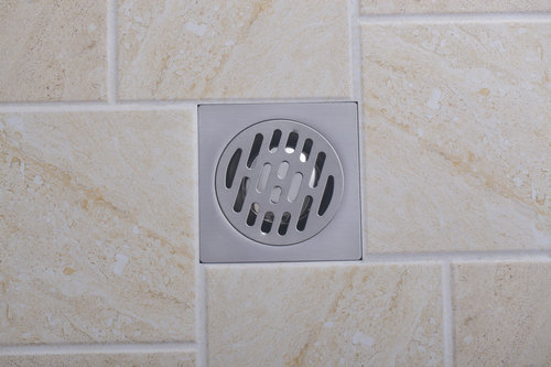 e_pak Newly Classic 5661 Bathroom Parts Nickel Brushed Shower Drain Square Floor Waste<br><br>Aliexpress