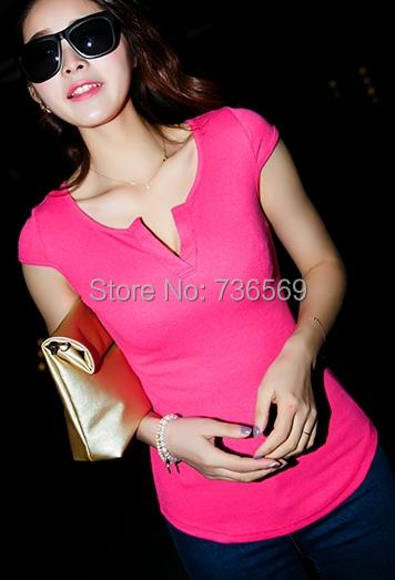 2015 Summer Women Clothing Cotton T shirt Tops Round Neck Casual T-Shirt 100% cotton Sexy Ladies desginer t shirts S M L XL XXL(China (Mainland))
