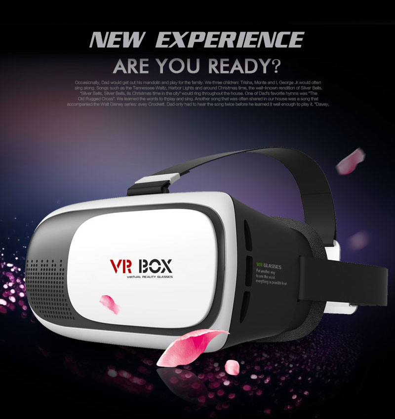 VR BOX 2 Version VR Virtual 3D Glasses Upgraded Virtual Reality 3D Video Glasses For phones from 3.5--6.0 inch  60pcs DHL FREE<br><br>Aliexpress