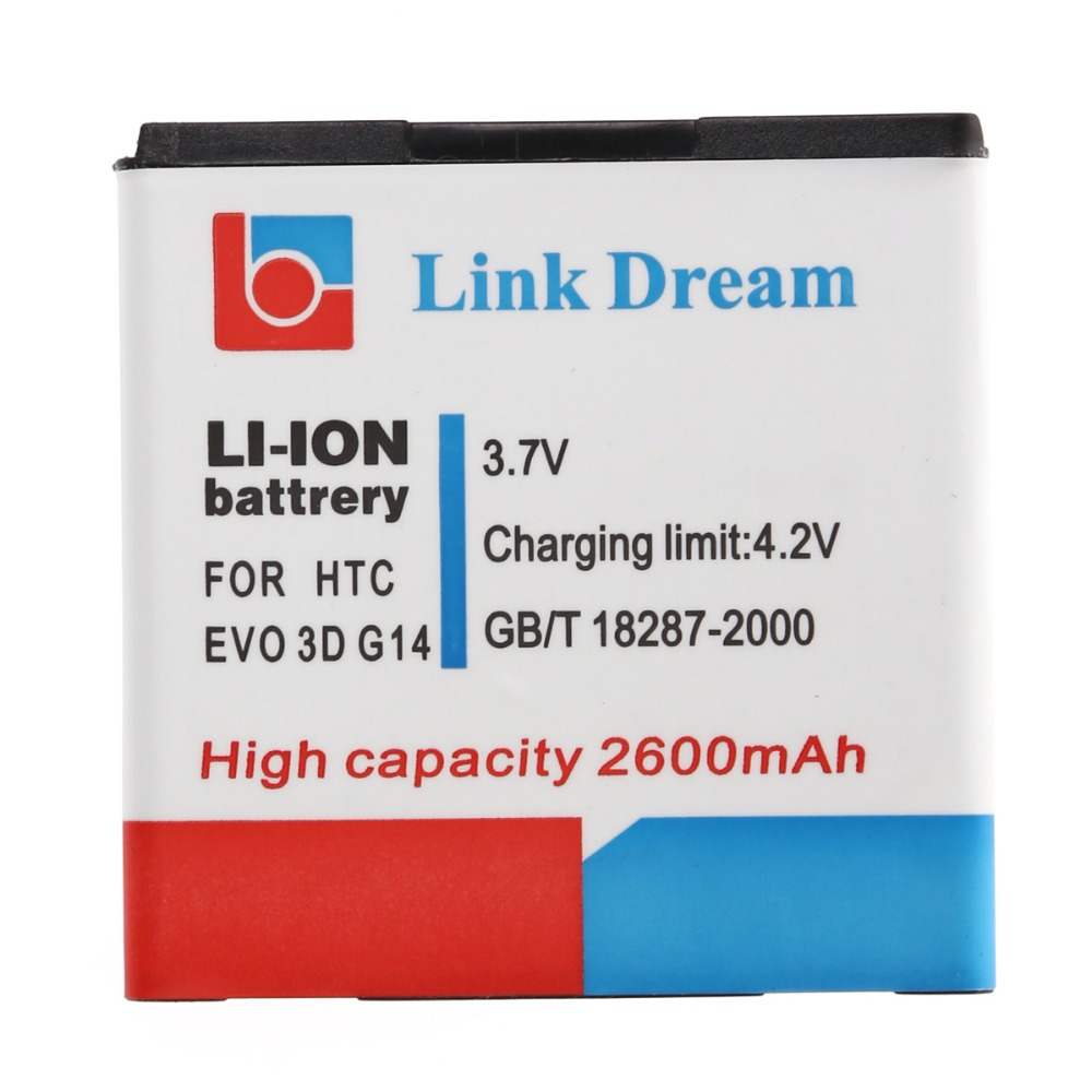 Link Dream High Quality 2600mAh Celular Mobile Phone Replacement Battery for HTC EVO 3D / G14 / G18 / G21(China (Mainland))